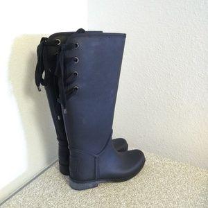 Coach Tristee Black Rubber Boots